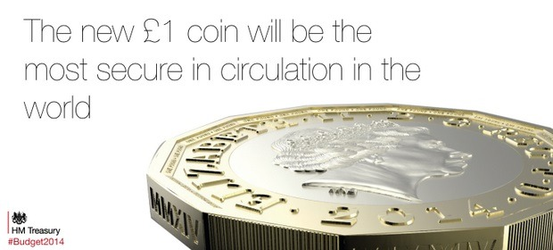 Chancellor unveils the design of the brand new £1 coin